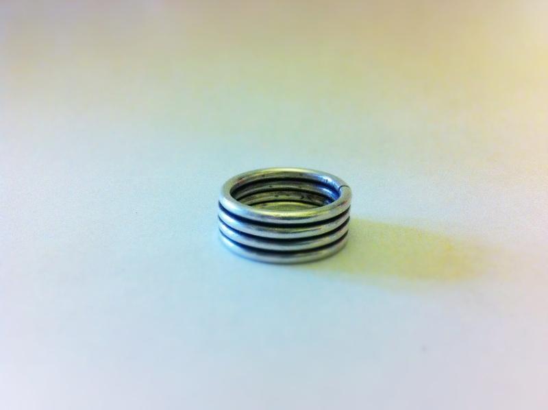 € 100,- zilver ring eerste gehalte zilver.